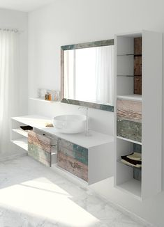 Bianchini & Capponi Multicolor Bathroom Collection: bathroom furniture made in Italy in reclaimed wood