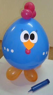 Fazendo a Minha Festa Infantil: Balão Galinha Pintadinha!!