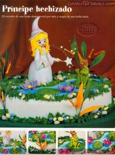Fairy and Frog cake tutorial