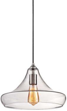 Urban Modern Clear Glass 13 1/4-Inch-W Pendant Light - #EU5W065 - Euro Style Lighting