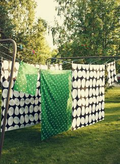 Playing in the backyard in the summer, running through the sheets on the line, the smell of clean laundry... yes.