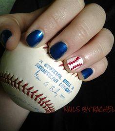 baseball by CharleEve198722 - Nail Art Gallery nailartgallery.nailsmag.com by Nails Magazine www.nailsmag.com #nailart