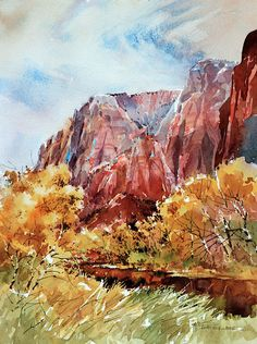 Carl Purcell   WATERCOLOR                  Zion National Park