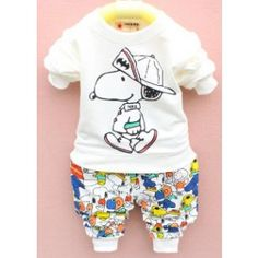 BABY/KID FASHION - SNOOPY CARTOON TWO-PIECES SET