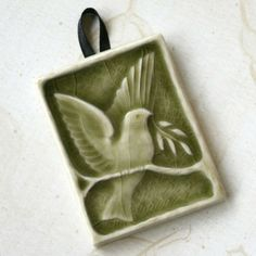 Bird of Peace Holiday ornament for your by LesperanceTile on Etsy, $10.50
