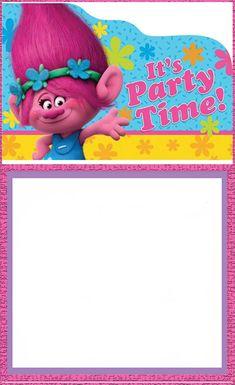 Free Printable Trolls Invitation Template Ella Pinterest