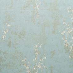 Zen Wallpaper in Pale Blue design by York Wallcoverings