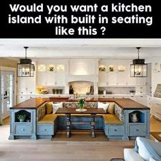 Kitchen Island With Built In Seating Lovely Perfect in no way go out of models. Kitchen Island With Built In Seating Lovely P Kitchen Ikea, Kitchen Nook, Family Kitchen, Kitchen Booths, Huge Kitchen, Narrow Kitchen, Kitchen Country, Kitchen Island Booth, Eat In Island Kitchen