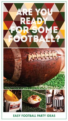 Easy Football Party Ideas, super cute and fun for the Super Bowl! | www.hellomysweet.com
