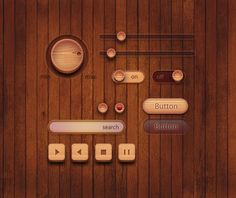 WOOD UI kit by YI YUNJU, via Behance