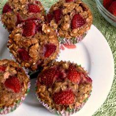 Strawberry Oatmeal Muffins recipe