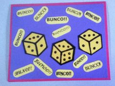 Bunco!!  Card for friends that play!