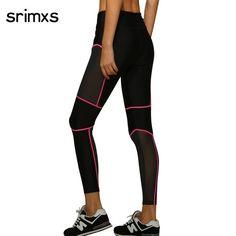 704e95c419 Srimxs Women Sports Tights Yoga Pants Women Fitness Sexy Yoga Leggings  Elastic running pants women mesh