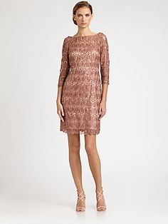 Kay Unger Sequined Lace Dress  love this one!