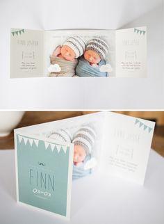 Dat je binnen een week twee geboortekaarten voor een tweeling af mag leveren gebeurt niet vaak. Het overkwam me afgelopen maand. Vorige week plaatste ik die van Chloë & Jolie al, vandaag is het…