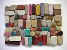 Erasers--I love all kinds! Check out this artful assortment