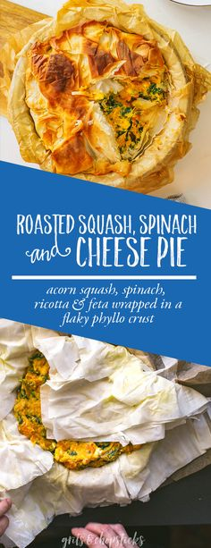 Try this roasted squash, spinach and cheese pie for the best vegetarian weeknight meal! Phyllo Dough Recipes, Thanksgiving Side Dishes, Thanksgiving Appetizers, Best Vegetarian Recipes, Healthy Recipes, Easy Pork Chop Recipes, Small Baking Dish, Cheese Pies, One Dish Dinners