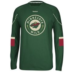 Reebok Minnesota Wild Faceoff Edge Long Sleeve T-Shirt - Green