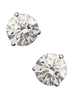 London Jewelers Collection Platinum Round Diamond Stud Earrings. Diamonds approximately 4.45ct total weight. H VS2 and H VS1 Color and Clarity.