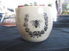 Honey Bee and Laurel mug by PirateRosePottery on Etsy, $30.00