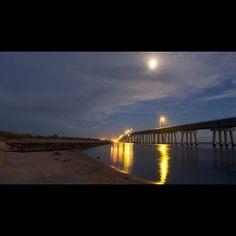 Ponquogue Bridge- Hampton Bays, NY  Best view ever.  Drive over or even better,walk it