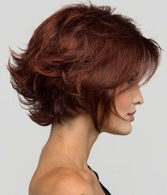 """12"""" Wavy Lace Front Short Wigs 100% Human Hair #33 Rich Copper Red no 1"""