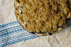 Blueberry Crumb Pie by yossy | apt2bbakingco, via Flickr