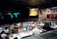 Mission Control, Houston, April 13, 1970 | NASA - Apollo 13, NASA's third crewed mission to the moon, launched on April 11, 1970. Two days later, on April 13, while the mission was en route to the moon, a fault in the electrical system of one of the Service Module's oxygen tanks produced an explosion that caused both oxygen tanks to fail and also led to a loss of electrical power.