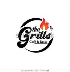 Grill Vintage Logo Design Vector témájú stockvektorkép (jogdíjmentes) 1703514265 Grill Logo, Design Vector, Vintage Logo Design, Company Logo, Indian, Recipes