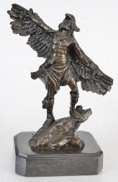 DAVID FISHER, escultor canadense. EAGLE SPIRIT. ESCULTURA em BRONZE, executada com a técnica da CE