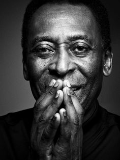 Black and white photography portrait man Pele