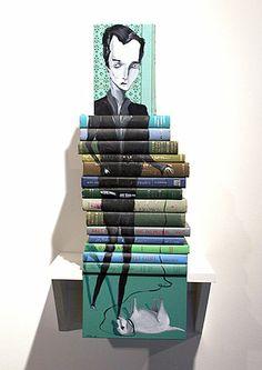 book art by Mike Stilkey. Love.