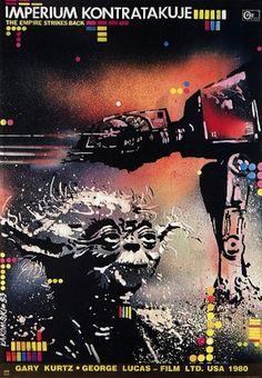The Empire Strikes Back | 45 Amazing Vintage Polish Posters Of Classic American Films Artist: Miroslaw Lakomski Year: 1983