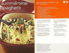Summertime Spaghetti Pampered Chef | Deep covered Baker