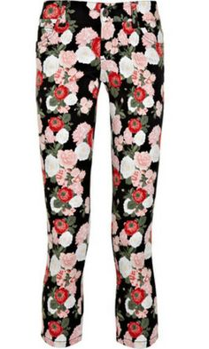 FLARE pick: Alice + Olivia bouquet print jeans, $186