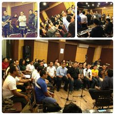 Rehearsal at studio before concert