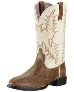 Ariat Women's Heritage Stockman Boot - Roughed Tan/Cream