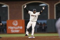 Giants' third baseman Pablo Sandoval doubles in the 3rd inning during game 7 of the NLCS at AT Park on Monday, Oct. 22, 2012 in San Francisco, Calif. Photo: Michael Macor, The Chronicle / SF