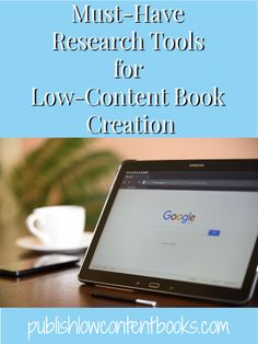 Must-Have Research Tools for Low-Content Books - free and paid tools I'm using to find keywords and niches for low-content book publishing! Book Publishing Companies, Self Publishing, Writing Courses, Writing Tips, Sales Techniques, Marketing Quotes, Book Of Life, Research, Must Haves