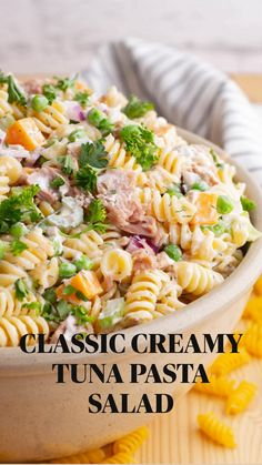 Yummy Pasta Recipes, Side Dish Recipes, Salad Recipes, Creamy Tuna Pasta, Tuna Salad Pasta, Best Vegetable Recipes, Homemade Vegetable Soups, Instant Pot Pasta Recipe, Best Side Dishes