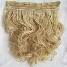 Professional Fluffy 16 Inches Wavy Clip In one Piece Human Hair Extension
