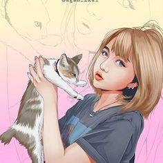 Vector Portrait, Portrait Illustration, Asian Recipes, Art Girl, Vector Art, How To Draw Hands, Digital Art, Doodles, Watercolor