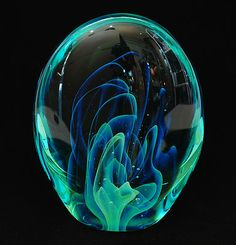 Art Glass Paperweight Sculpture Gilbert C. Johnson 1974