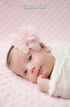 Baby newborn little flower