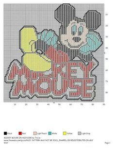 MICKEY MOUSE ON MICKEY MOUSE by TRICIA -- WALL HANGING