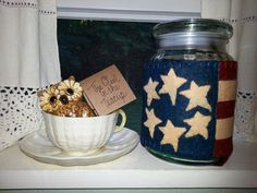 Colonial American Flag candle wrap by theowlintheteacup on Etsy, $14.00
