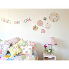 Make it Sewcial... embroidery hoops (ideas for girls' bedrooms)