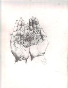 Open Praying Hands Tattoo   Praying Hand Drawings