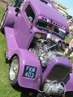 Stars and Stripes American Classic Car Show purple cars, purple trucks, purple SUV