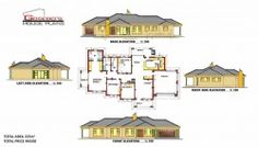 To Be Build at Bochum (Limpopo) 5 Bedroom House Plans, Family House Plans, Country House Plans, Free House Plans, House Floor Plans, Modern Bungalow House Plans, House Plans South Africa, Beautiful House Plans, Plans Architecture